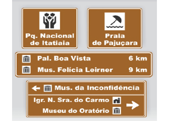 PLACAS DE ATRATIVOS TURÍSTICOS DA CIDADE