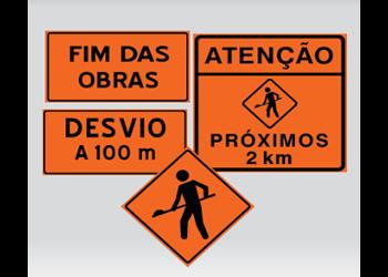 PLACAS DE OBRAS PARA RUAS