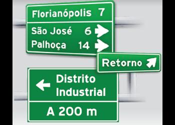 PLACAS DE ORIENTAÇÕES DE DESTINO EM PISTAS