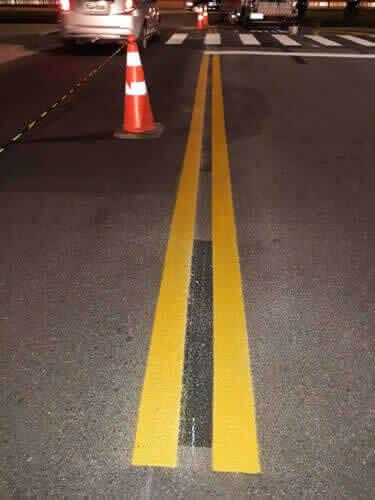 Faixas Amarelas para Sinalizacao de Transitos