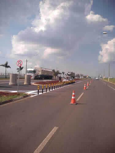 Estrada Principal com Sinalizadores Csv