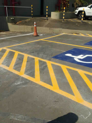 Csv Sinalização para Estacionamentos para Cadeirantes
